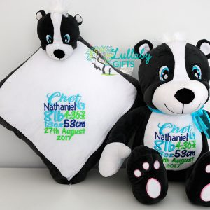 PERSONALISED PLUSH/BLANKIE SET